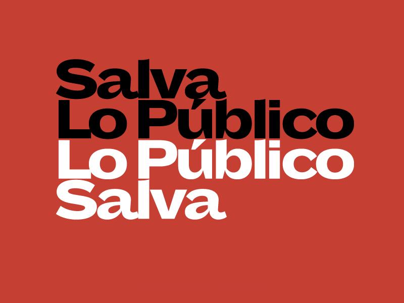Salva Lo Público Lo Público Salva