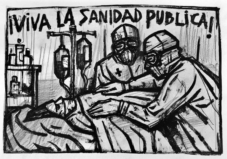 Carlos-Garcia-Alix-Viva-la-sanidad-publica-dibujo